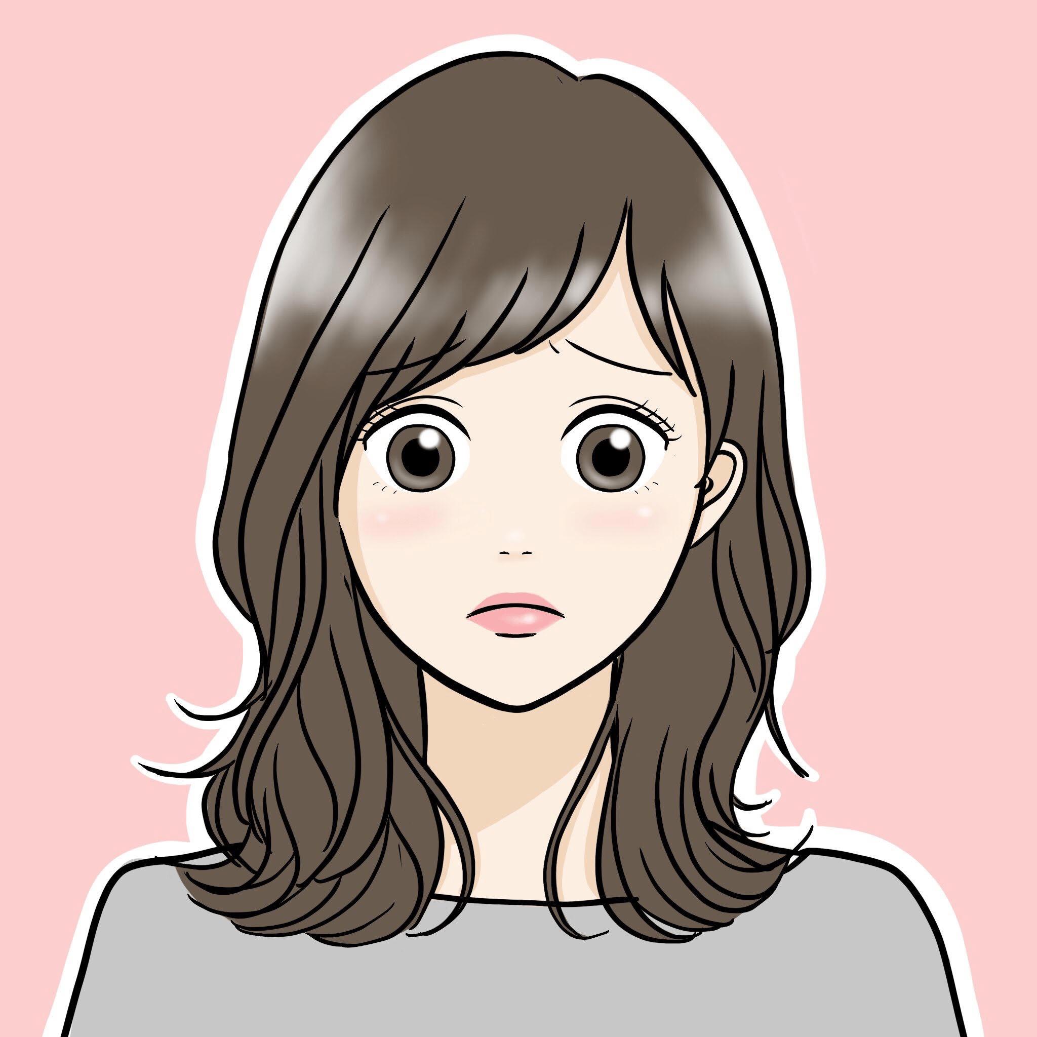 表情_女性_困った